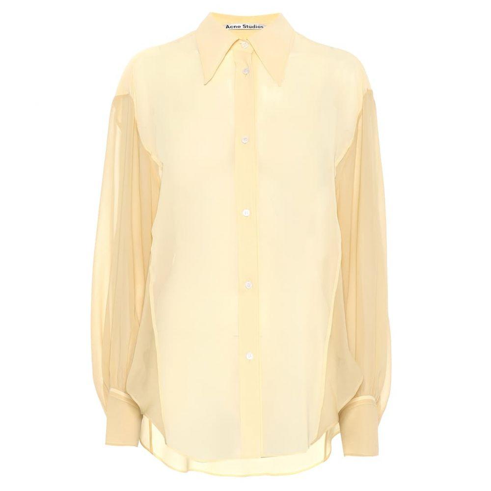 アクネ ストゥディオズ Acne Studios レディース ブラウス・シャツ トップス【Crepe chiffon shirt】Vanilla Yellow