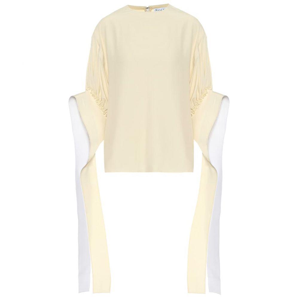 J.W.アンダーソン JW Anderson レディース トップス 【Silk-blend top】Off White