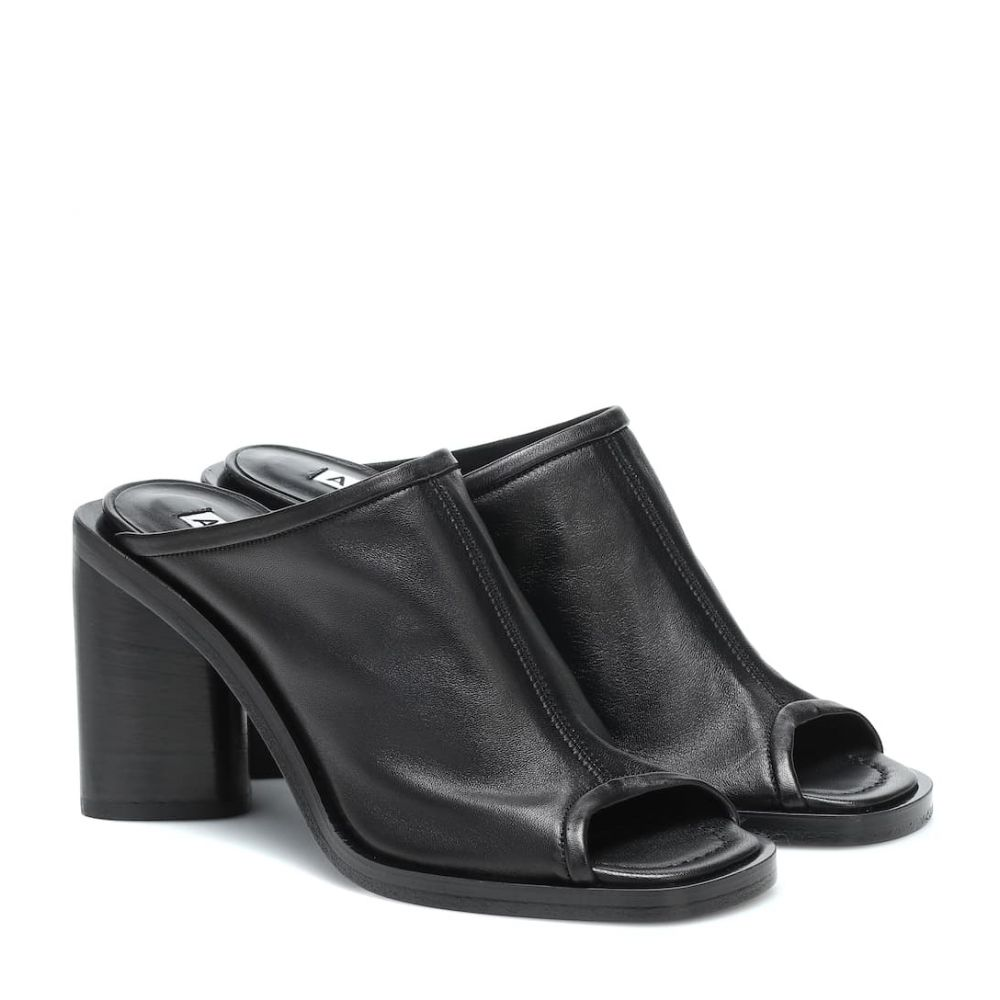 アクネ ストゥディオズ Acne Studios レディース サンダル・ミュール シューズ・靴【Leather sandals】Black/Black