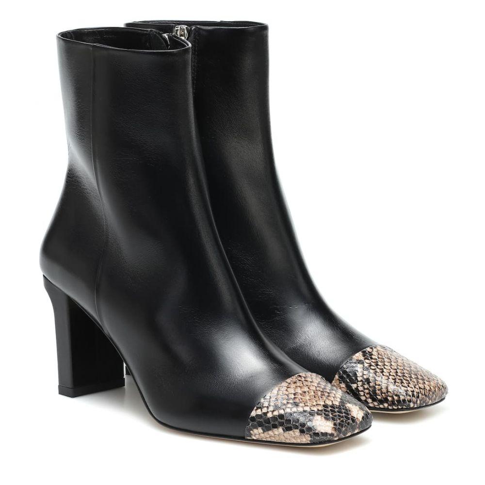 アイデ Aeyde レディース ブーツ ショートブーツ シューズ・靴【Belle leather ankle boots】Black/Natural