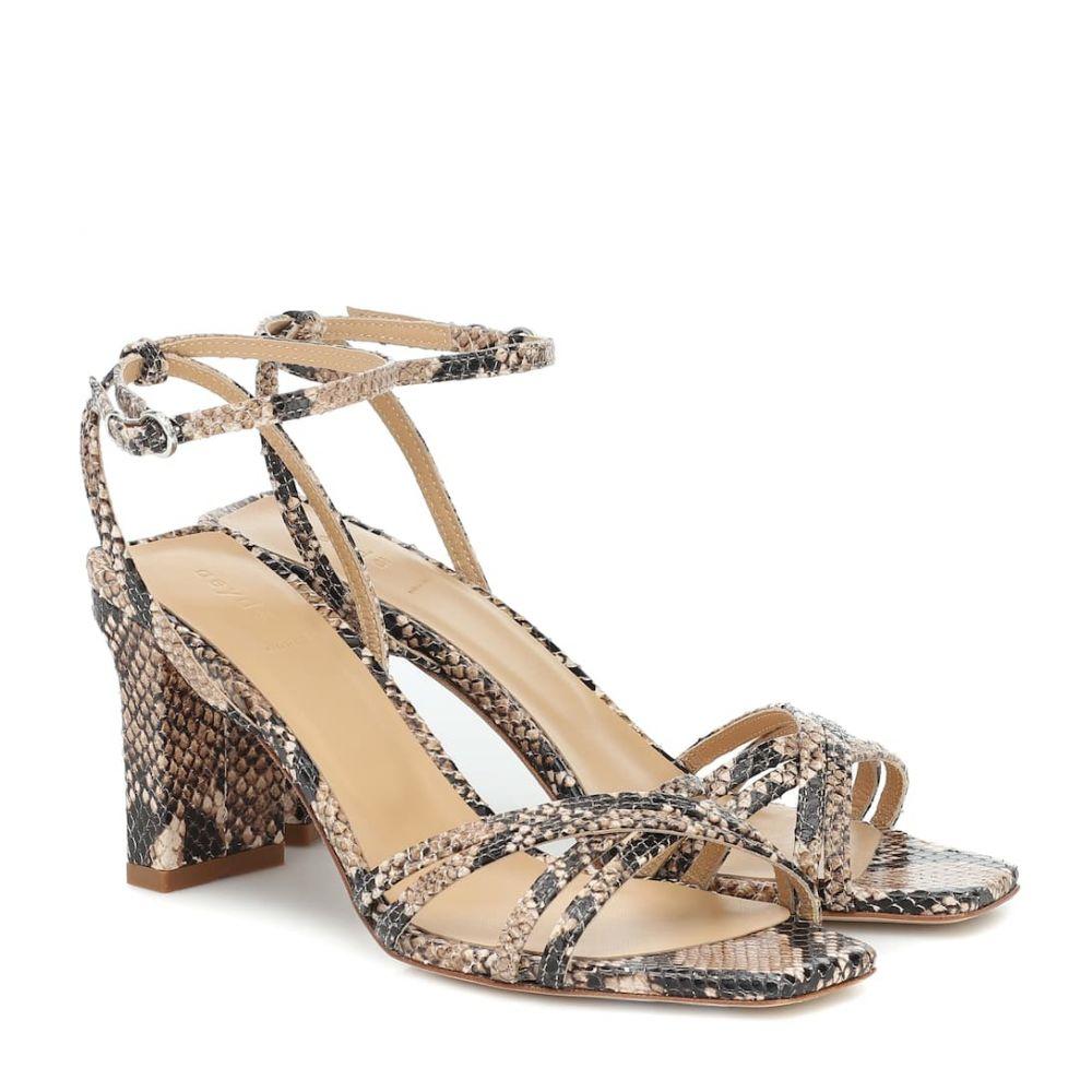 アイデ Aeyde レディース サンダル・ミュール シューズ・靴【Annabella embossed leather sandals】Natural
