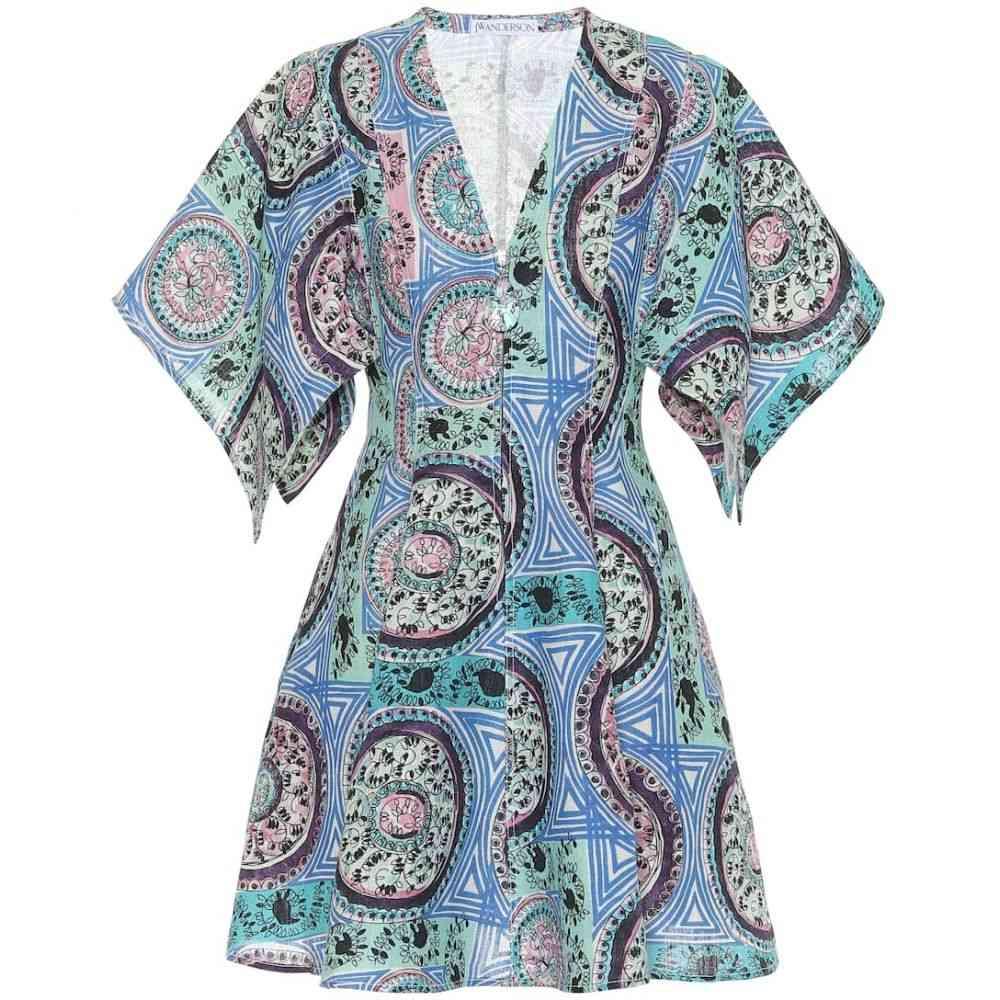 J.W.アンダーソン JW Anderson レディース ワンピース ワンピース・ドレス【Printed linen minidress】Venetian