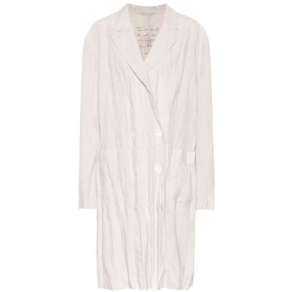 アクネ ストゥディオズ Acne Studios レディース コート アウター【Linen coat】White Melange
