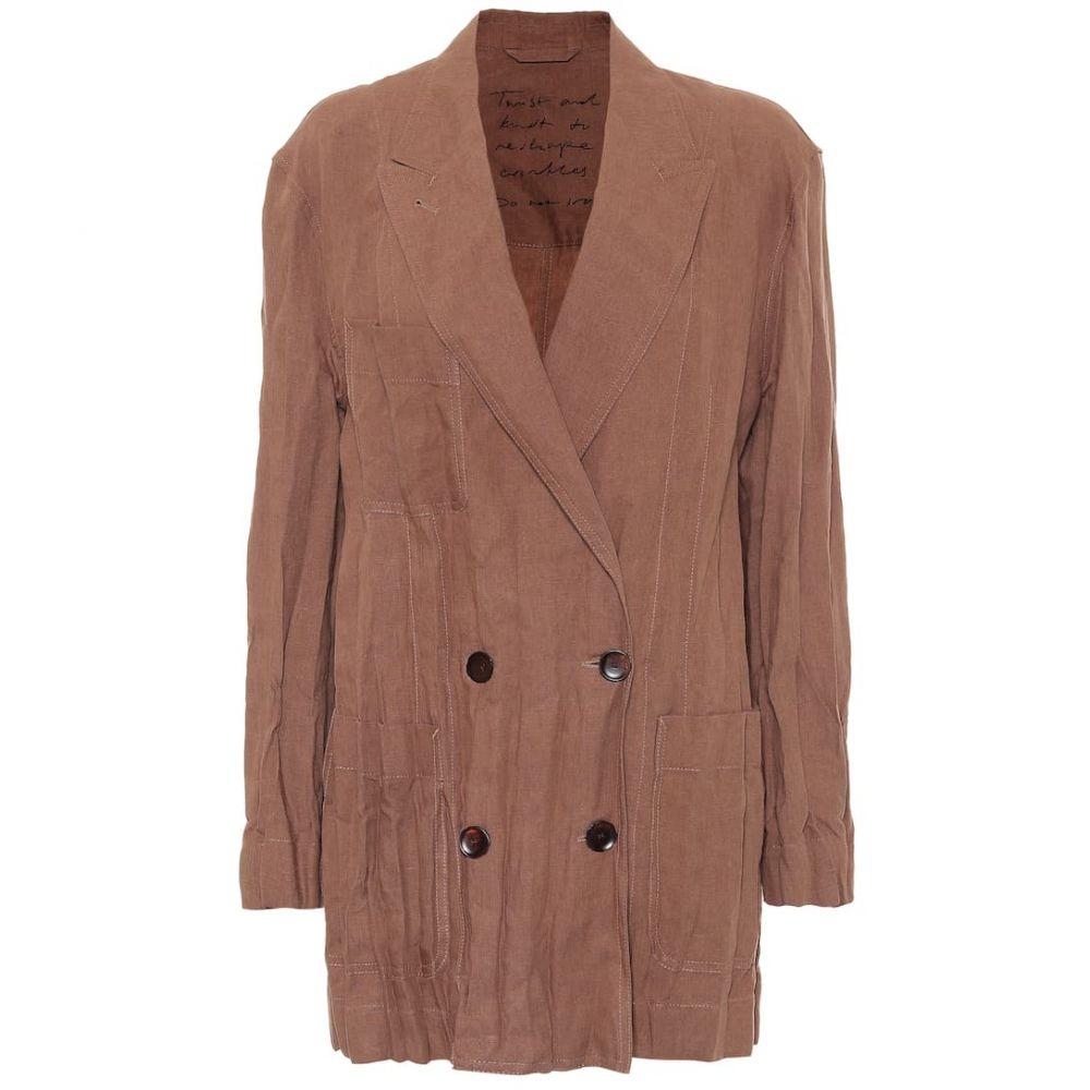 アクネ ストゥディオズ Acne Studios レディース スーツ・ジャケット アウター【Linen blazer】Mink Brown