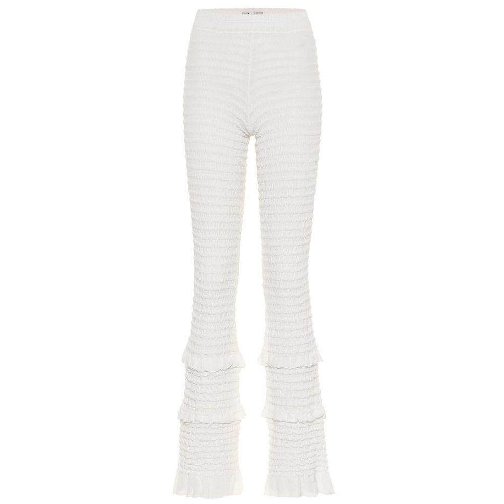 アクネ ストゥディオズ Acne Studios レディース スキニー・スリム ボトムス・パンツ【Textured high-rise slim pants】Off White
