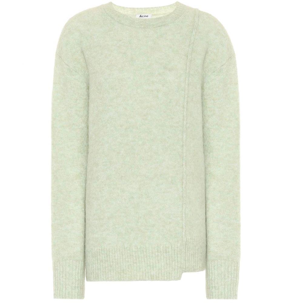 アクネ ストゥディオズ Acne Studios レディース ニット・セーター トップス【Asymmetric sweater】Pistachio Green