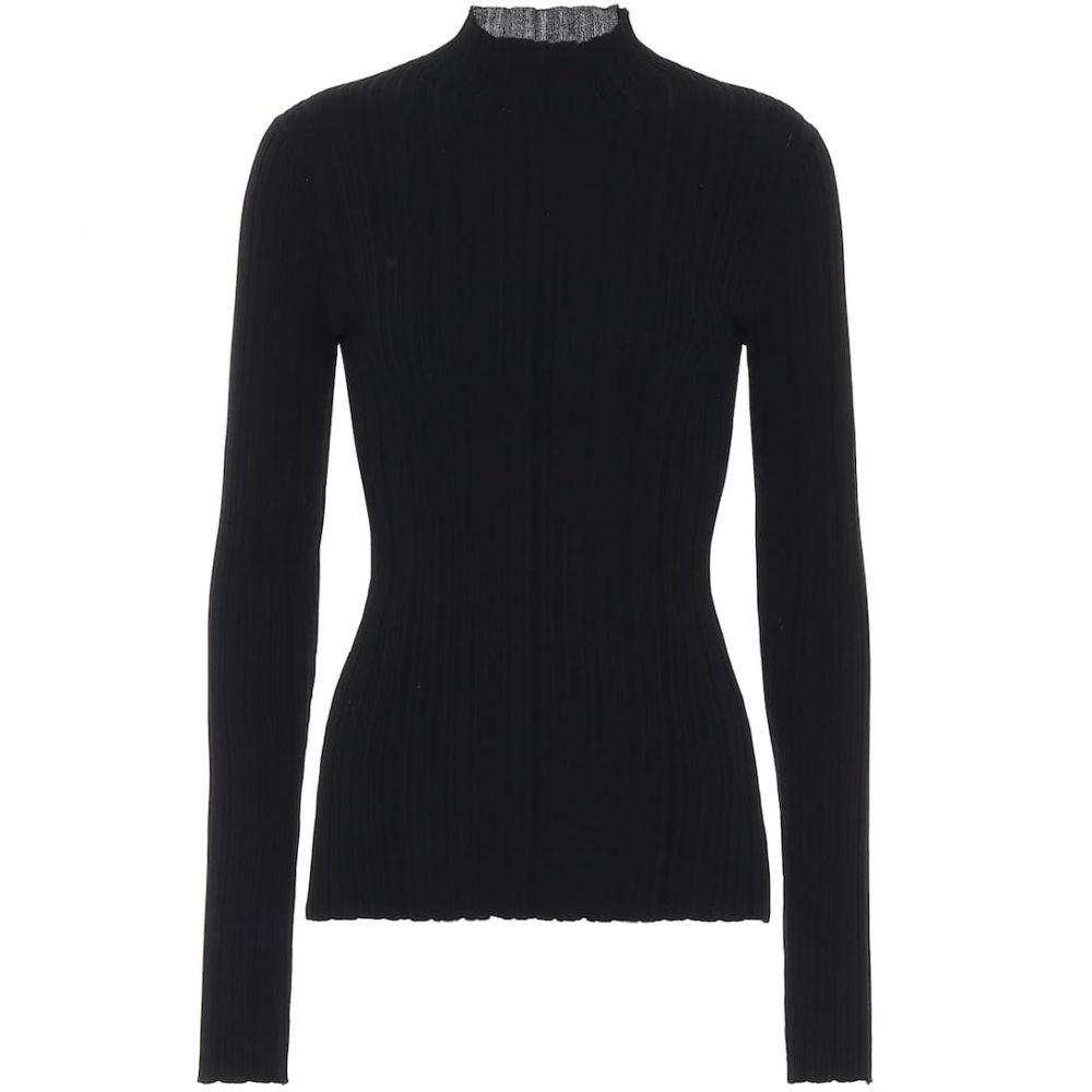 アクネ ストゥディオズ Acne Studios レディース ニット・セーター トップス【Ribbed-knit cotton-blend sweater】Black