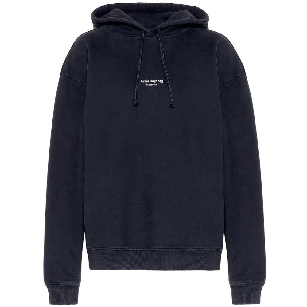 アクネ ストゥディオズ Acne Studios レディース パーカー トップス【Logo cotton hoodie】Black