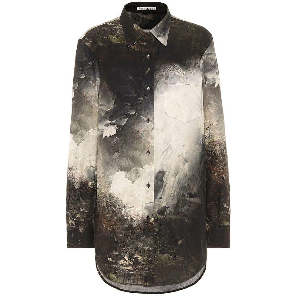 アクネ ストゥディオズ Acne Studios レディース ブラウス・シャツ トップス【Printed linen shirt】Brown/White