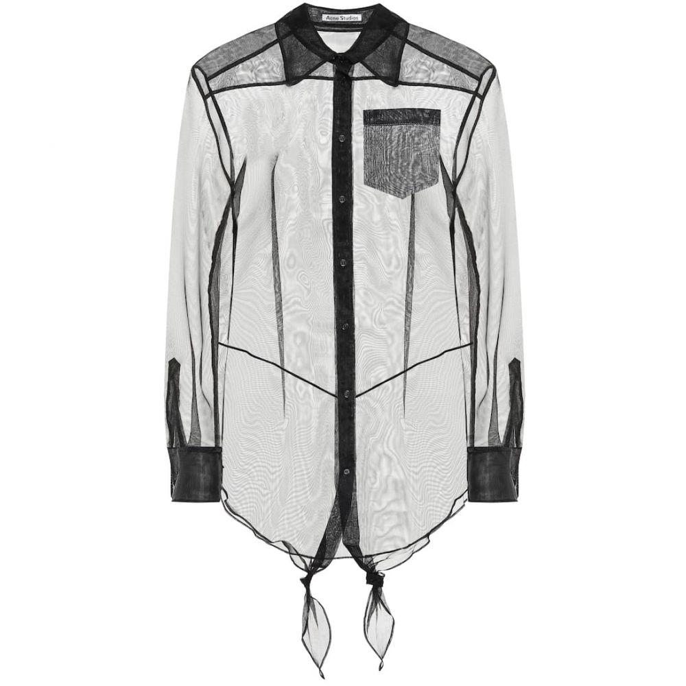 アクネ ストゥディオズ Acne Studios レディース ブラウス・シャツ トップス【Sheer cotton blouse】Black