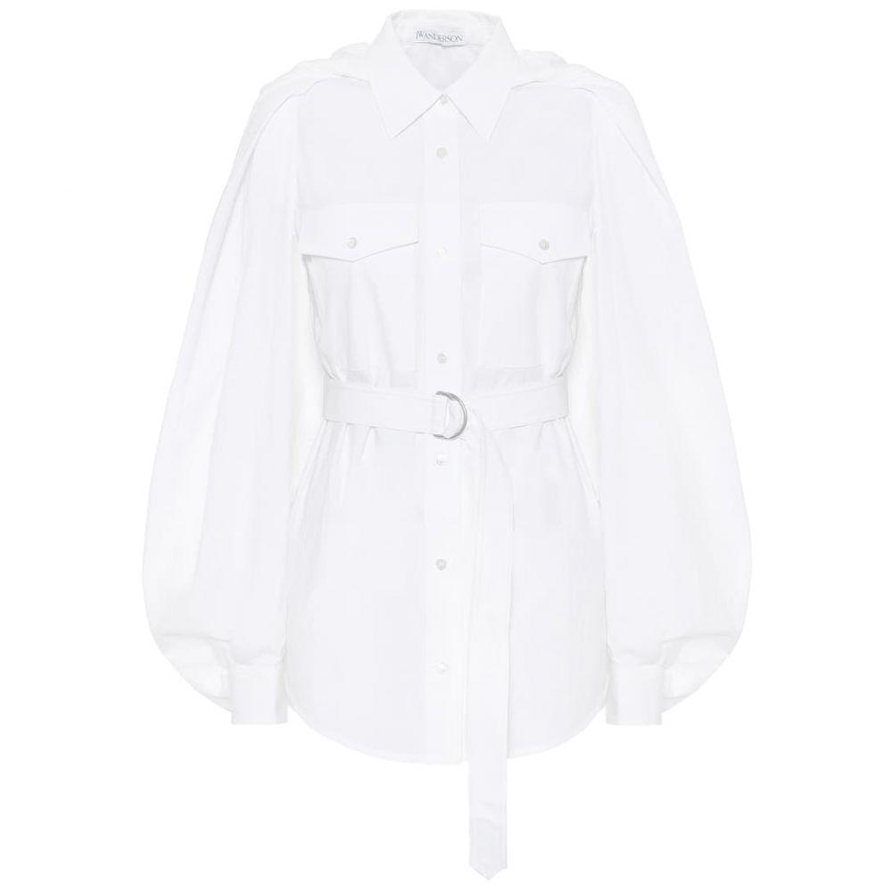 J.W.アンダーソン JW Anderson レディース ブラウス・シャツ トップス【Belted cotton shirt】White