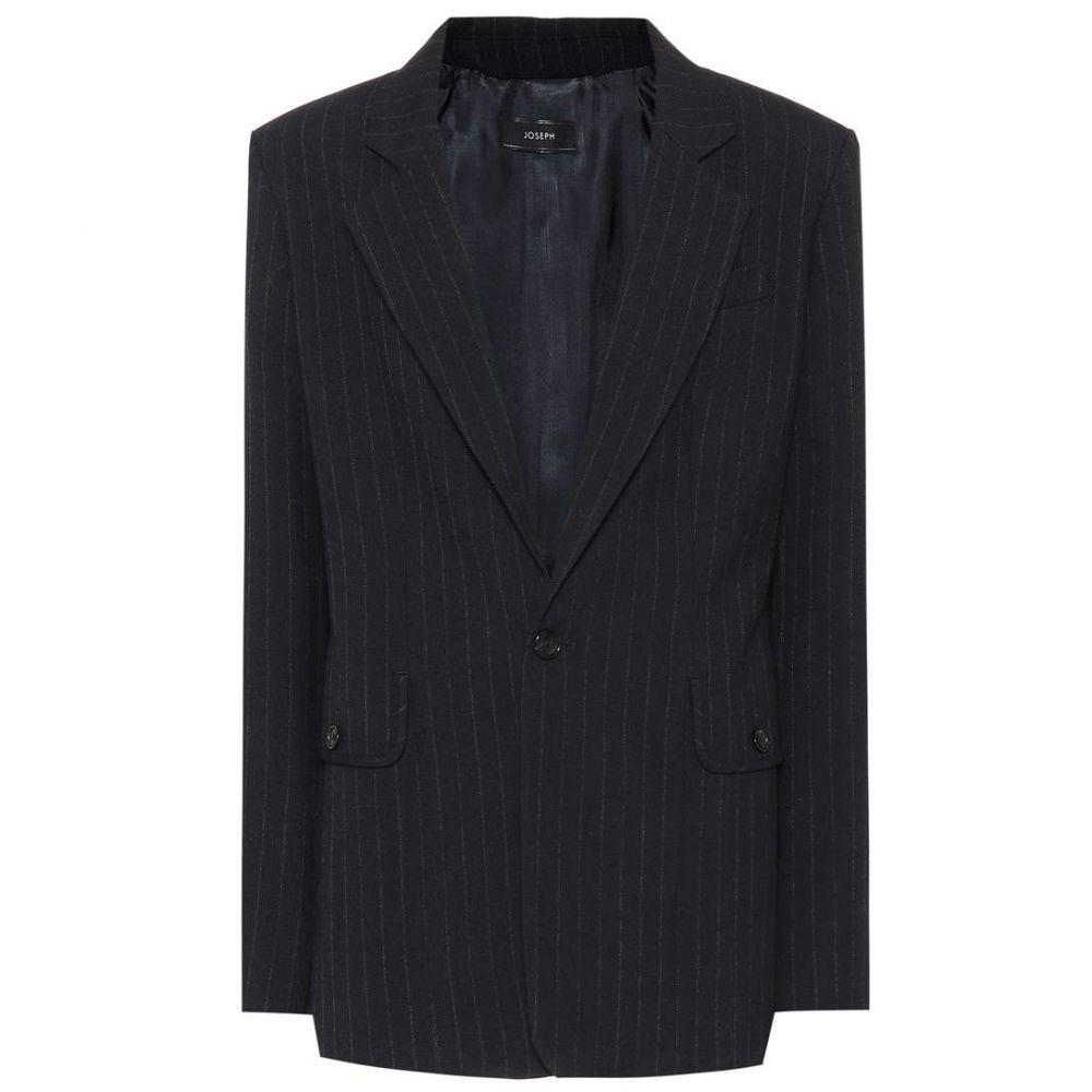 ジョゼフ Joseph レディース スーツ・ジャケット アウター【Lisle pinstripe wool blazer】navy