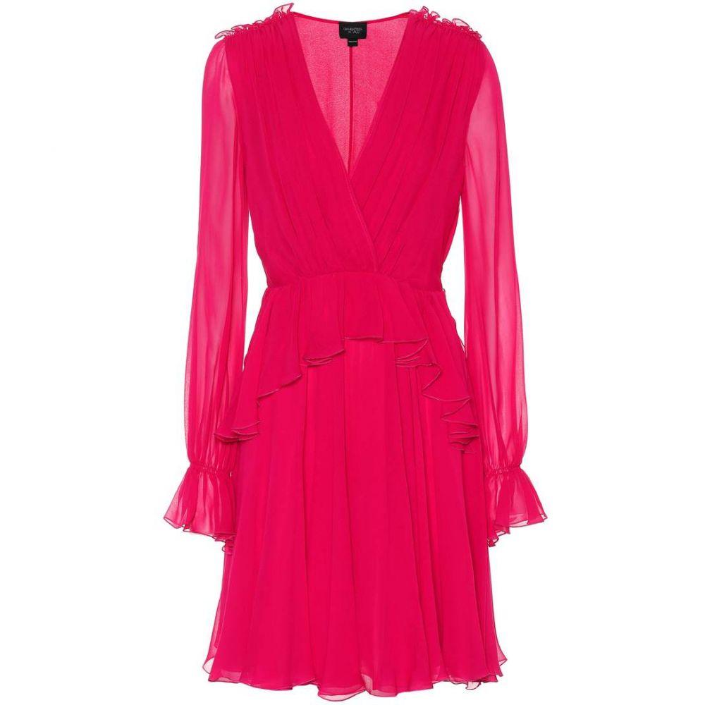 ジャンバティスタ バリ Giambattista Valli レディース ワンピース ワンピース・ドレス【Ruffled silk dress】Fuxia