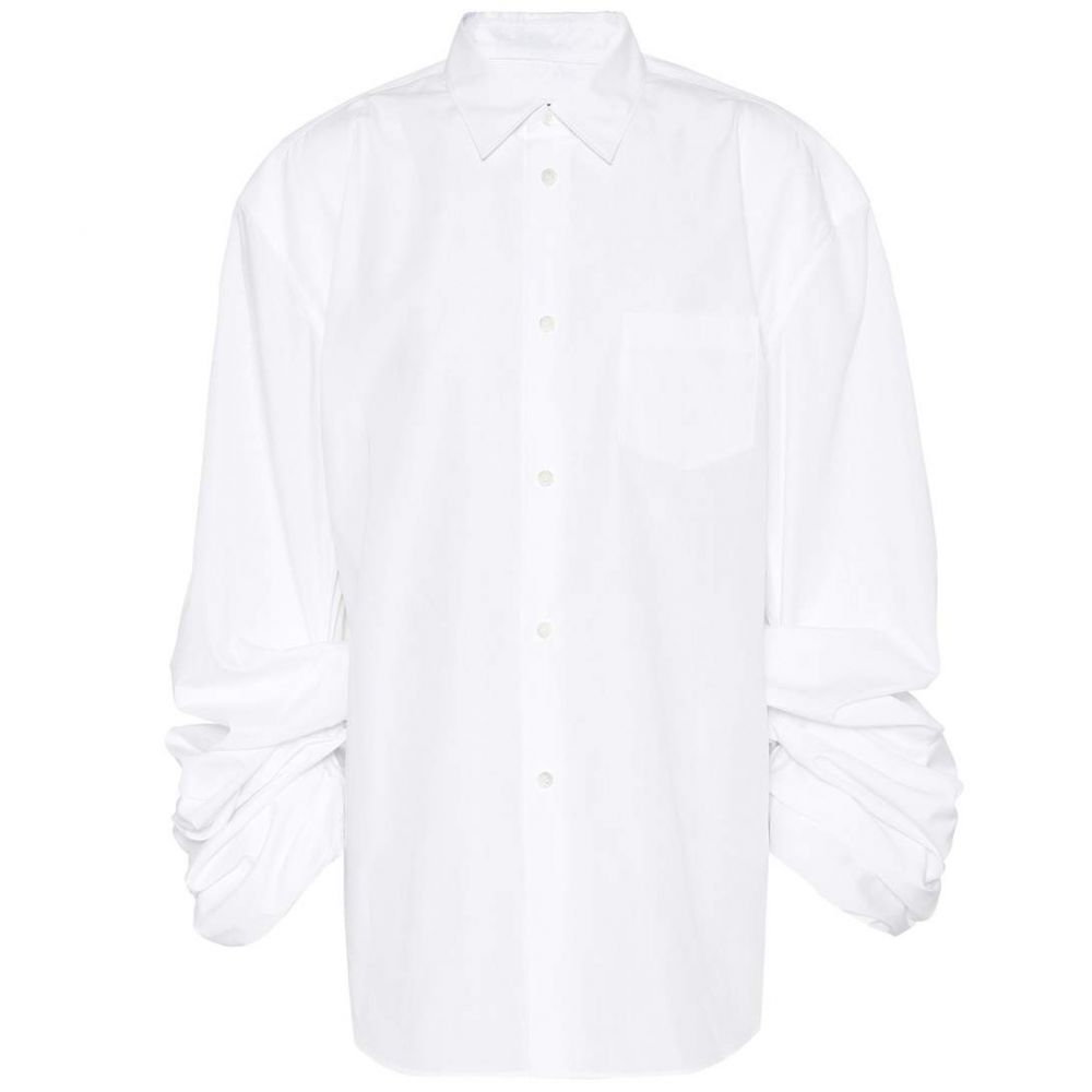 ジュンヤ ワタナベ Junya Watanabe レディース ブラウス・シャツ トップス【Cotton-blend shirt】white
