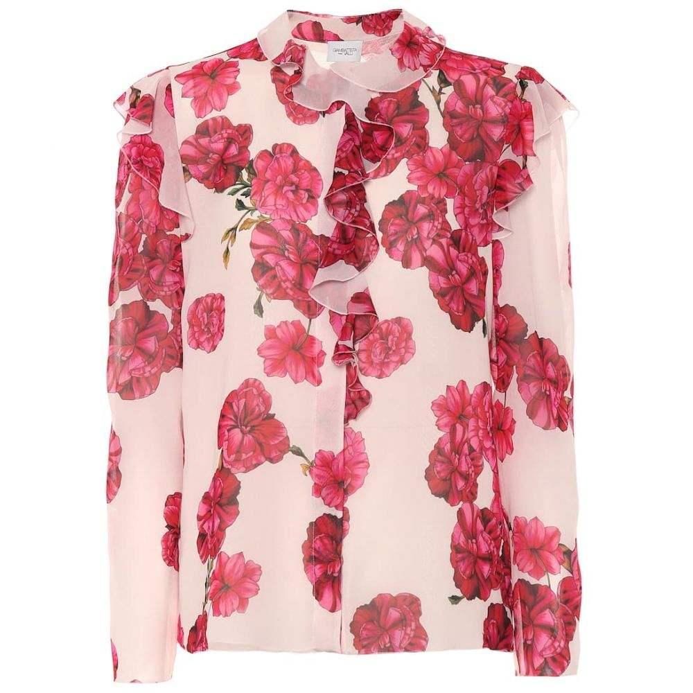 ジャンバティスタ バリ Giambattista Valli レディース ブラウス・シャツ トップス【Floral silk blouse】Rose-Peony Framboise