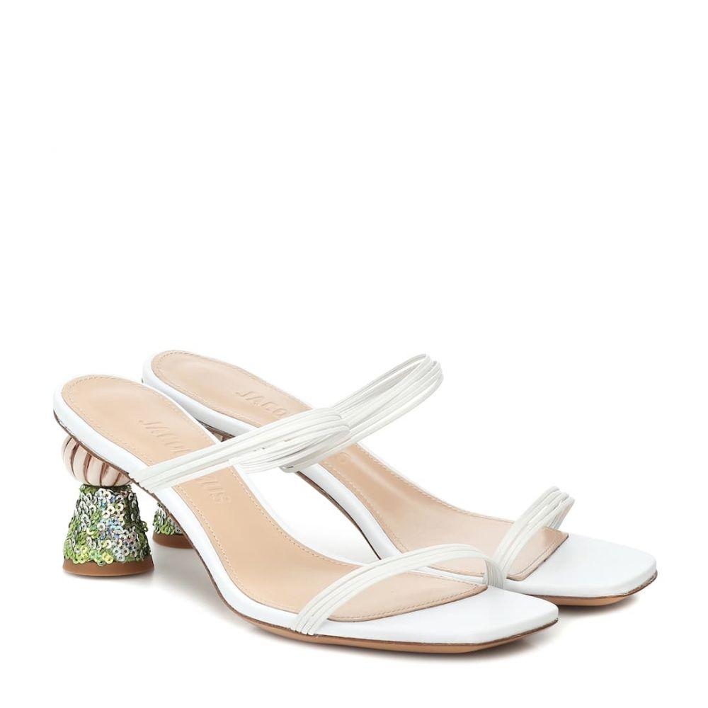 ジャックムス Jacquemus レディース サンダル・ミュール シューズ・靴【Les Mules Vallena leather sandals】White