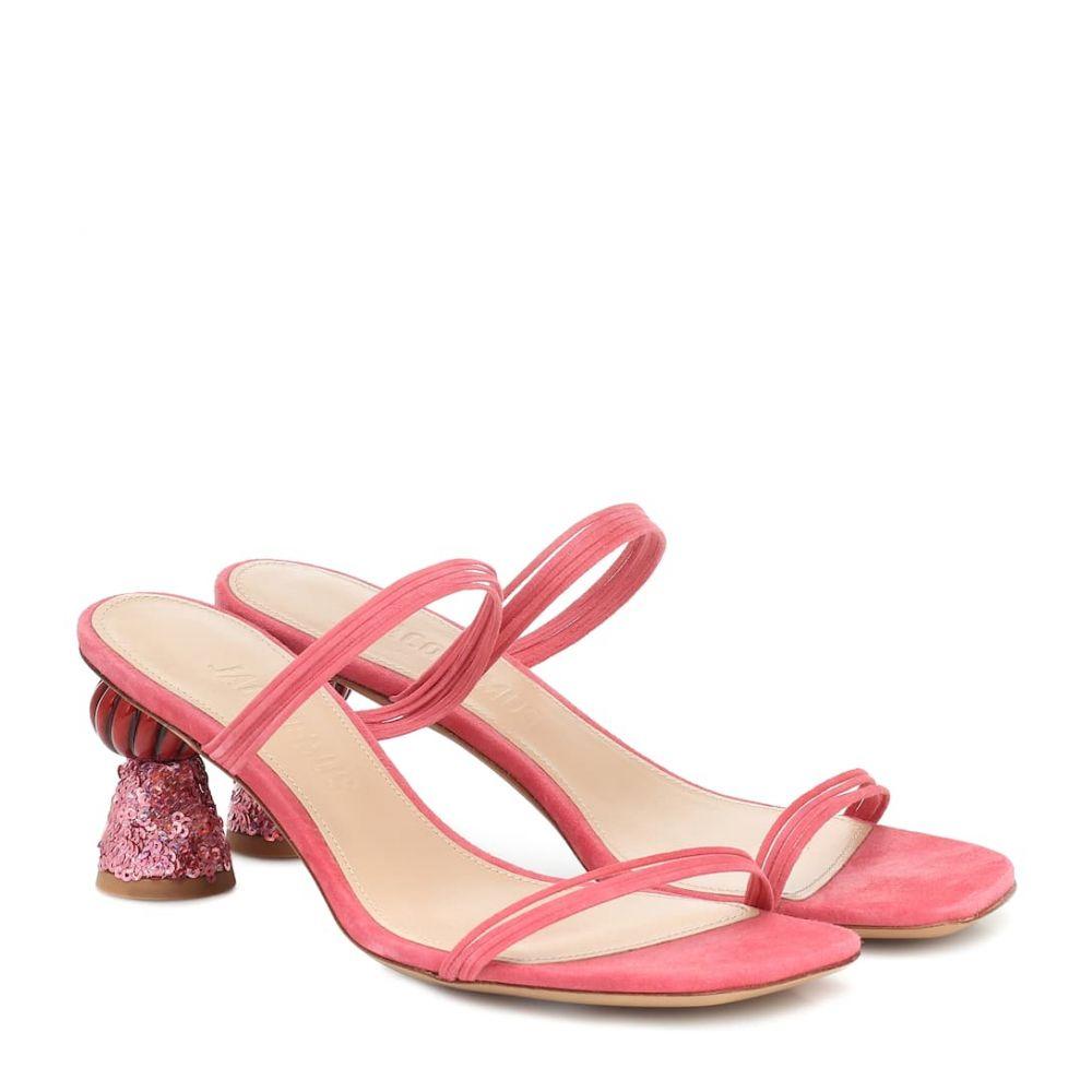 ジャックムス Jacquemus レディース サンダル・ミュール シューズ・靴【Les Mules Vallena suede sandals】Pink