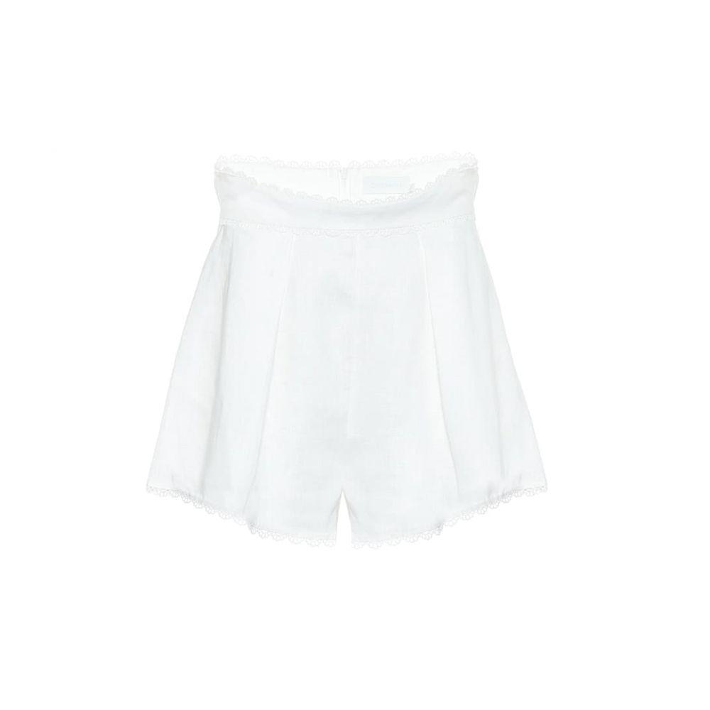 ジマーマン Zimmermann レディース ビーチウェア ショートパンツ 水着・ビーチウェア【Kirra linen shorts】Ivory
