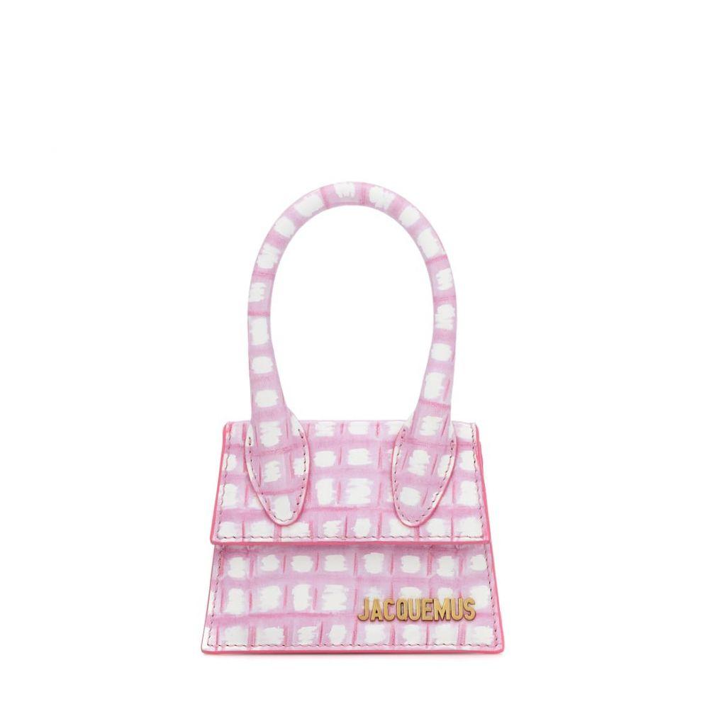 ジャックムス Jacquemus レディース トートバッグ バッグ【Le Chiquito Mini leather tote】Print Pink Checked