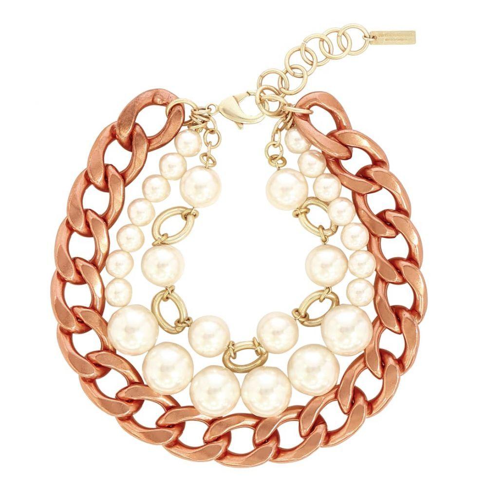 ジュンヤ ワタナベ Junya Watanabe レディース ネックレス ジュエリー・アクセサリー【Faux pearl and brass necklace】