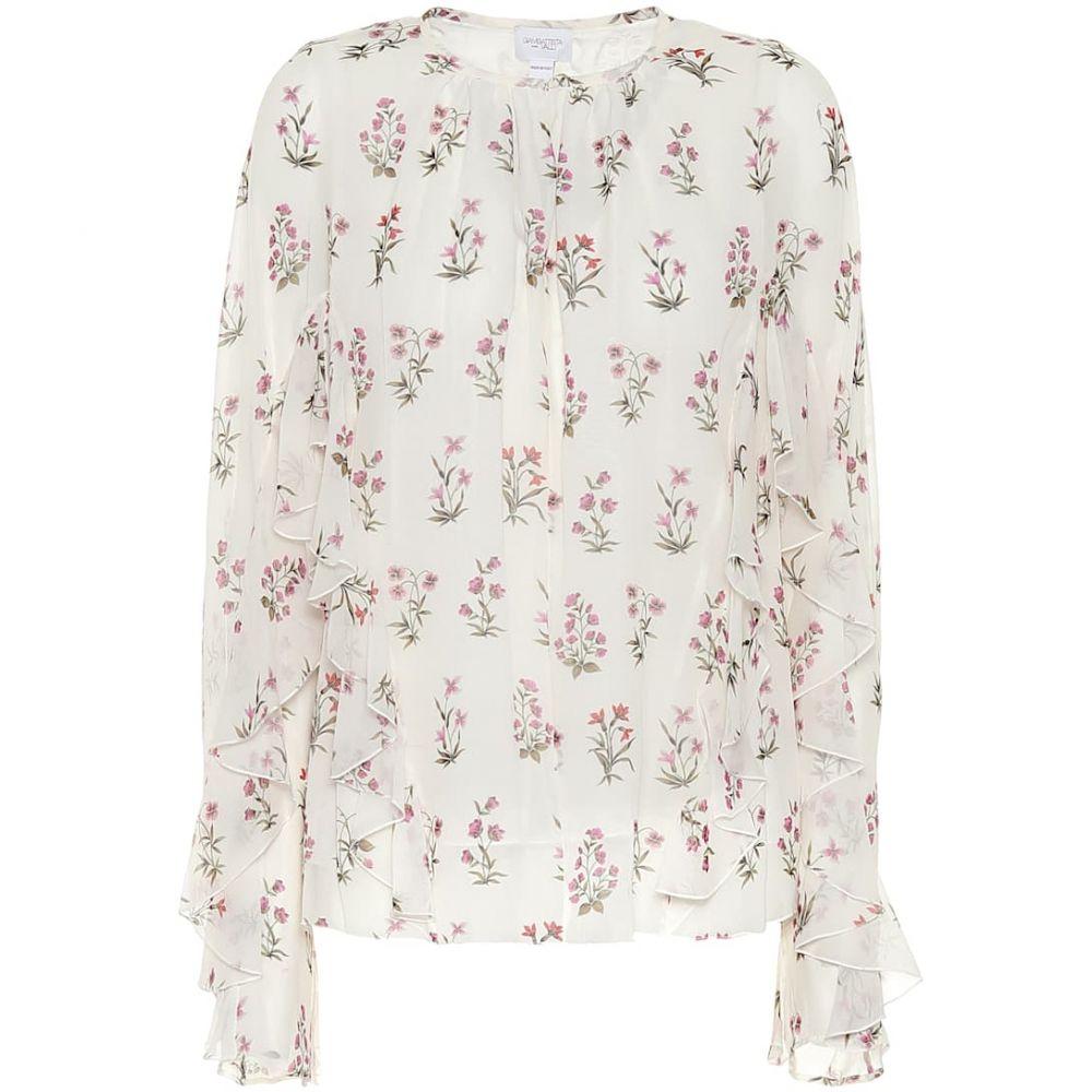 ジャンバティスタ バリ Giambattista Valli レディース ブラウス・シャツ トップス【Floral silk blouse】Ivoire/Fleurs