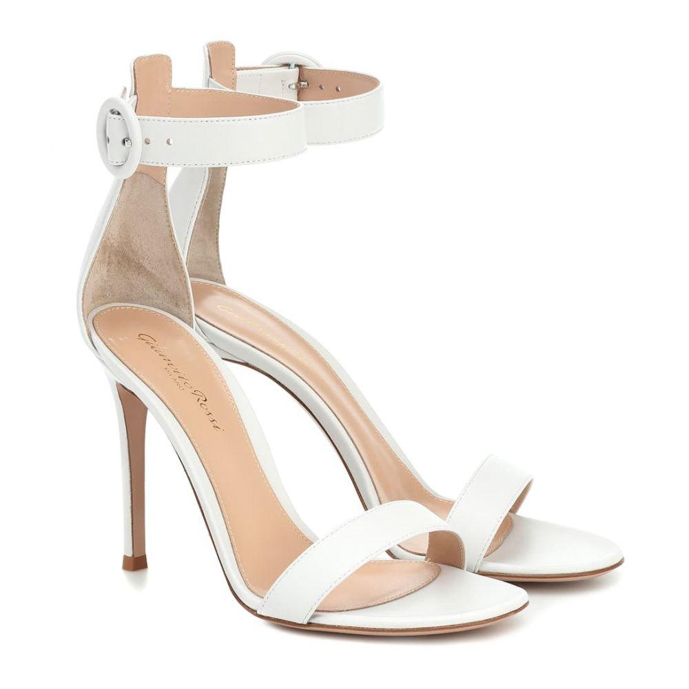 ジャンヴィト ロッシ Gianvito Rossi レディース サンダル・ミュール シューズ・靴【Portofino 105 leather sandals】White