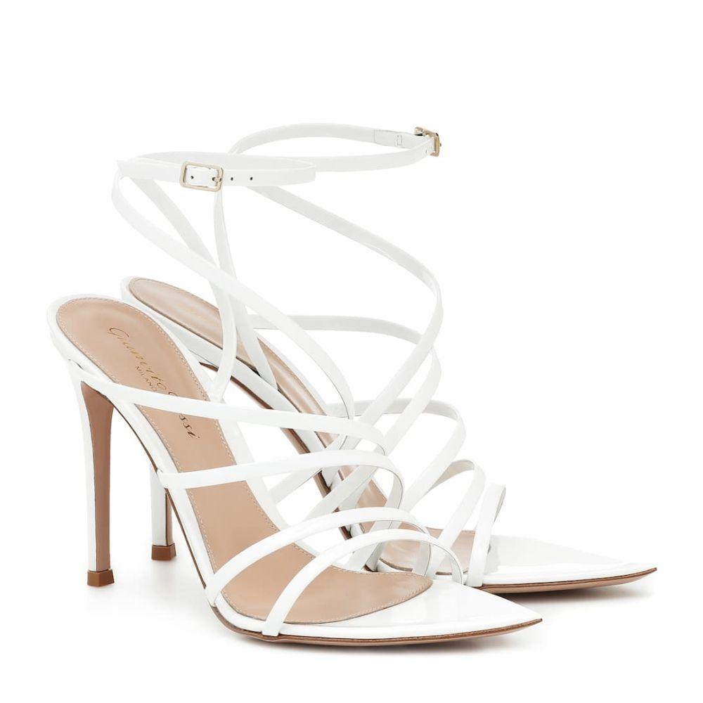 ジャンヴィト ロッシ Gianvito Rossi レディース サンダル・ミュール シューズ・靴【Eclypse 105 leather sandals】White