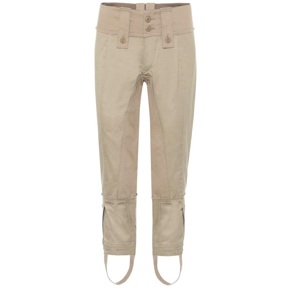 ジュンヤ ワタナベ Junya Watanabe レディース クロップド ボトムス・パンツ【Cropped mid-rise skinny cotton pants】Beige