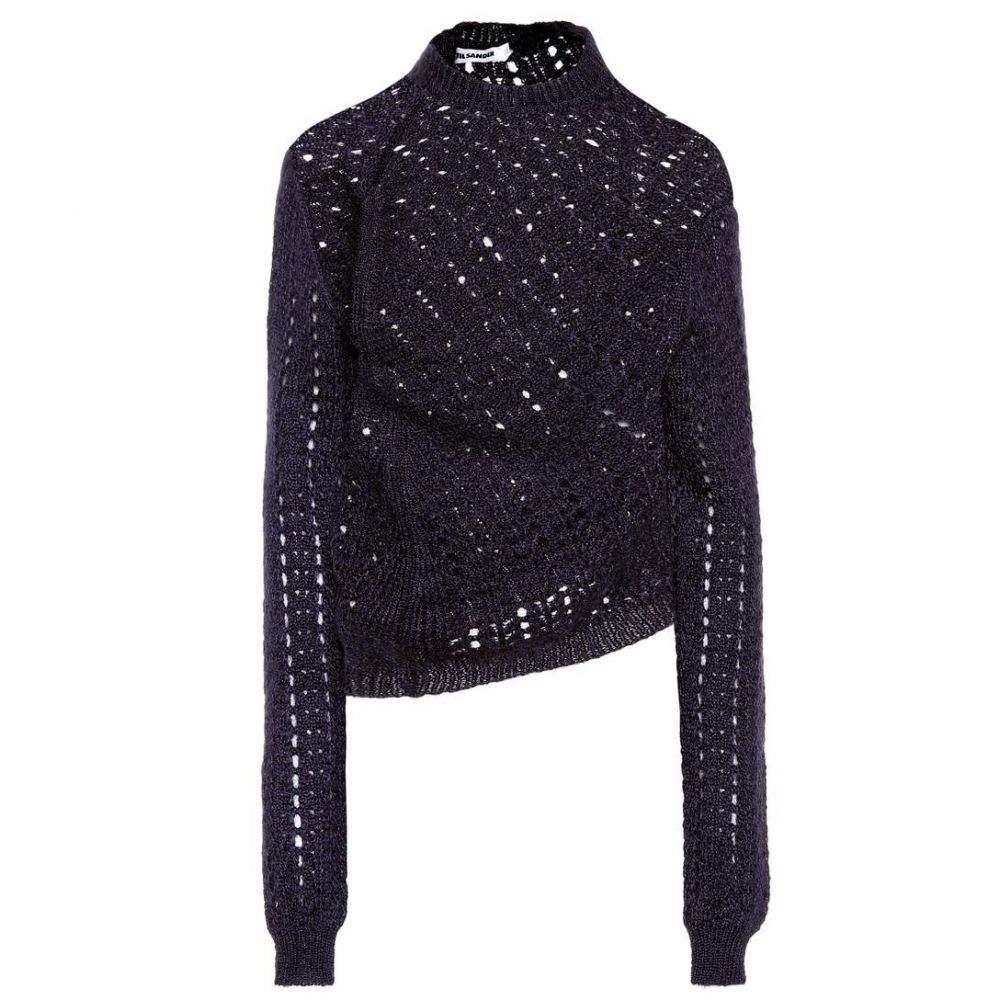 ジル サンダー Jil Sander レディース ニット・セーター トップス【Mohair and silk sweater】Dark Purple