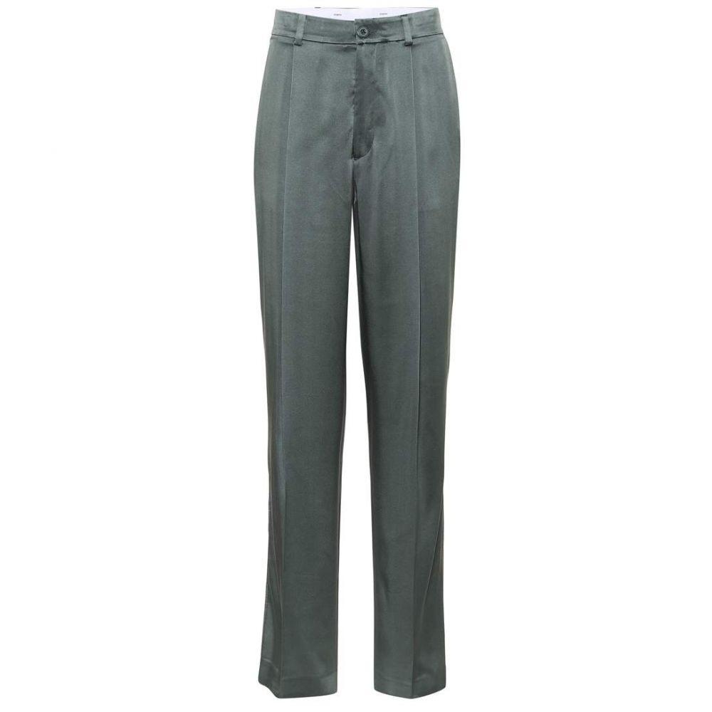 ジョゼフ Joseph レディース ボトムス・パンツ 【Silk straight-leg pants】Clover