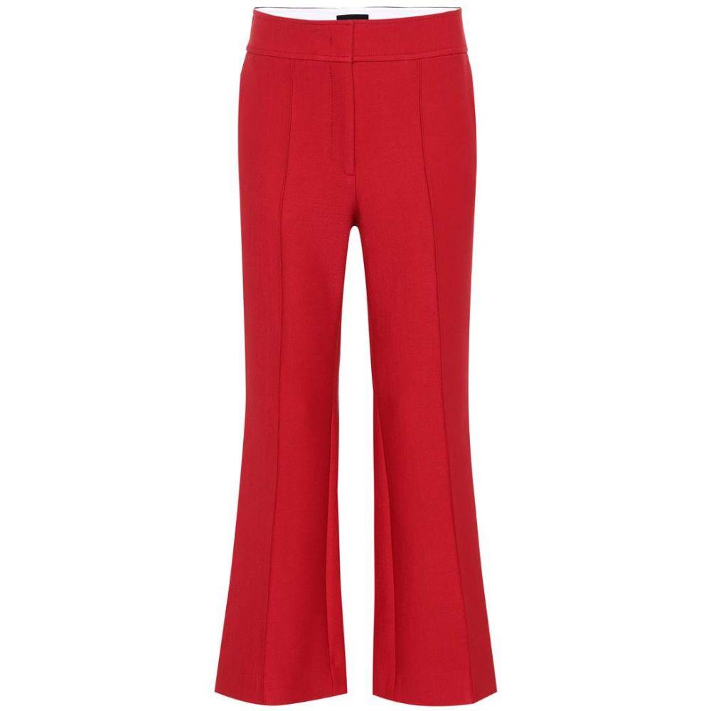 ジョゼフ Joseph レディース ボトムス・パンツ 【Wool-blend high-rise flared pants】scarlet