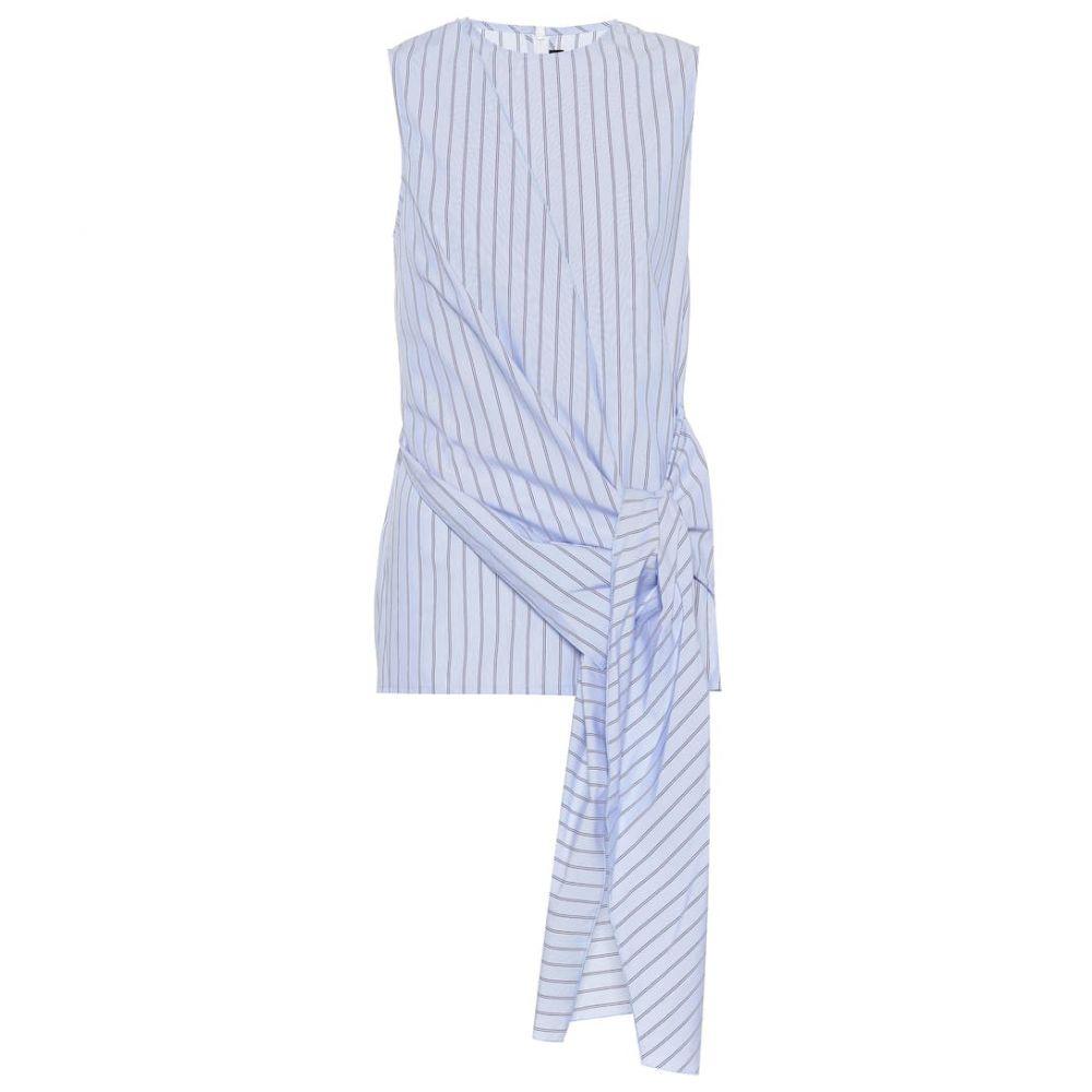 ジョゼフ Joseph レディース トップス 【Alicia striped cotton top】blue