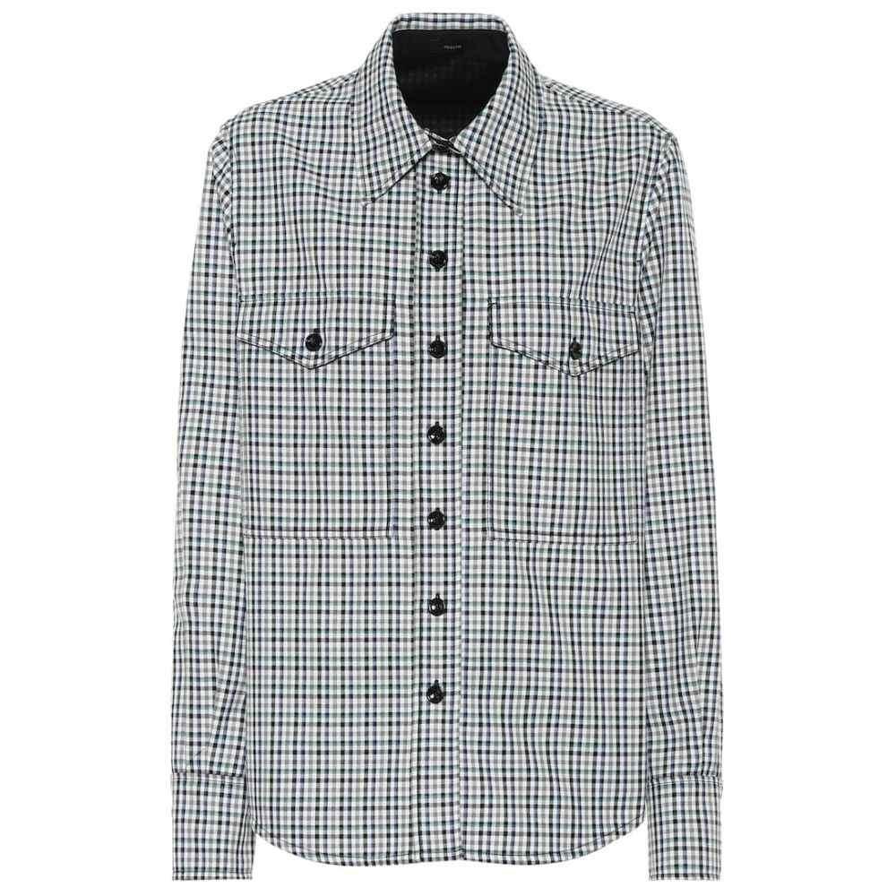 ジョゼフ Joseph レディース ブラウス・シャツ トップス【Fara checked shirt】Black