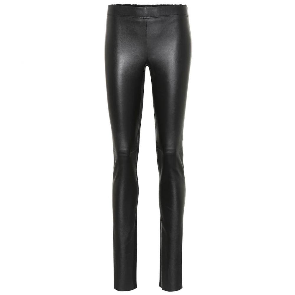 ジョゼフ Joseph レディース ボトムス・パンツ レザーパンツ【Leather straight pants】Black