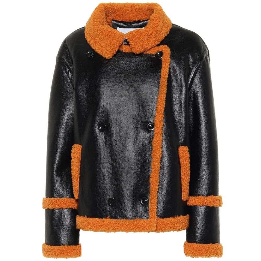 スタンドスタジオ Stand Studio レディース ジャケット シアリング アウター【Lilli faux shearling jacket】Black Orange