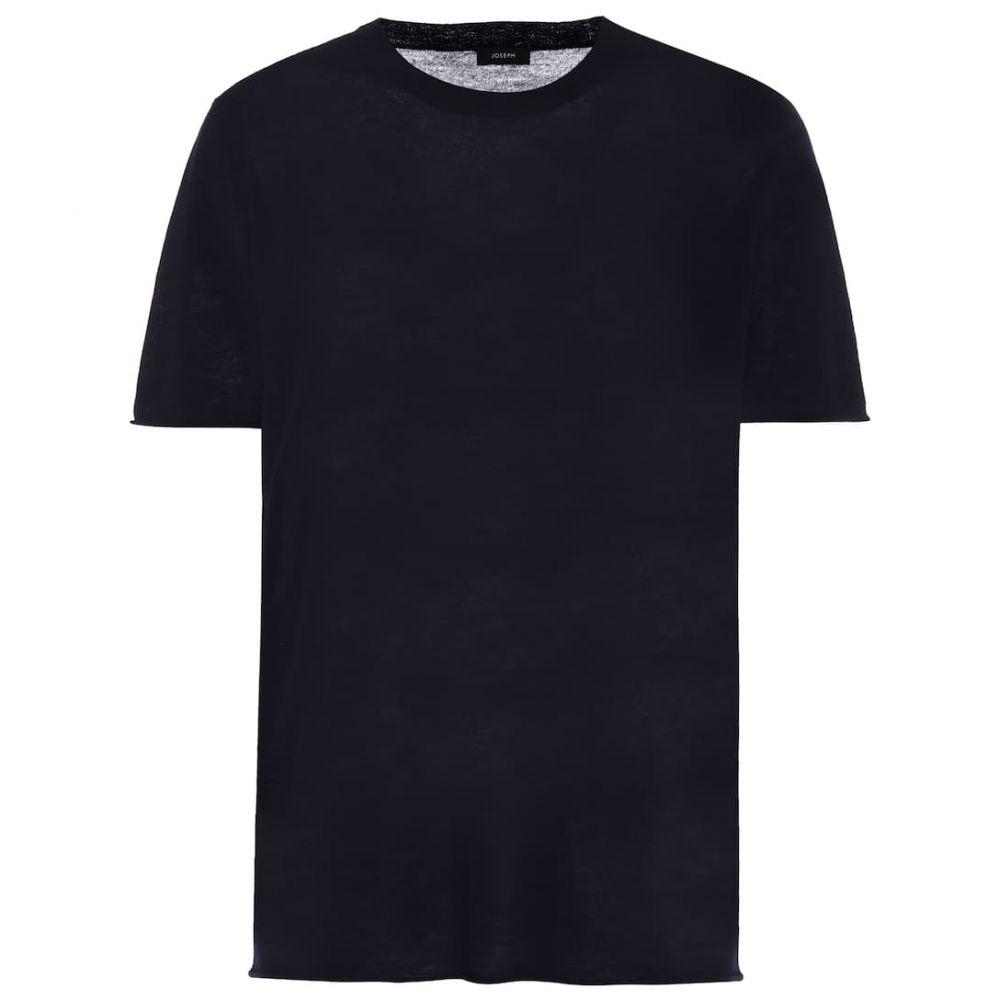 ジョゼフ Joseph レディース Tシャツ トップス【Cashmere T-shirt】Navy