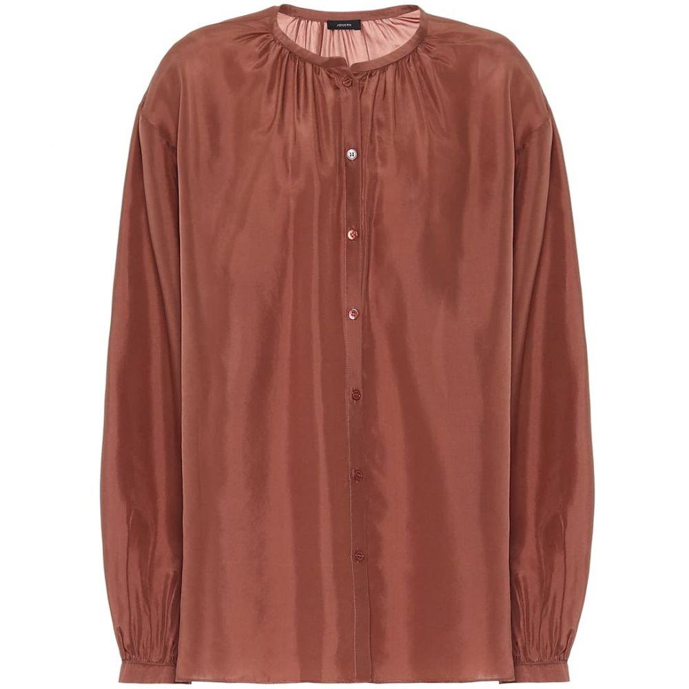 ジョゼフ Joseph レディース ブラウス・シャツ トップス【Bowell silk blouse】Dusty Rose