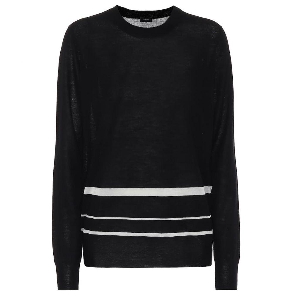 ジョゼフ Joseph レディース ニット・セーター トップス【Cashmere-blend sweater】Black