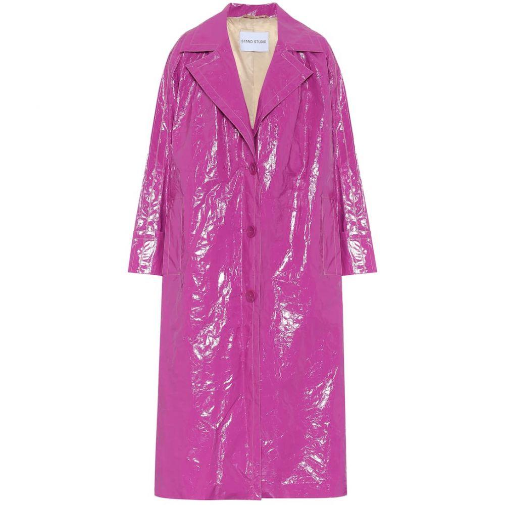 スタンドスタジオ Stand Studio レディース コート アウター【Lexie vinyl coat】Orchid Violet