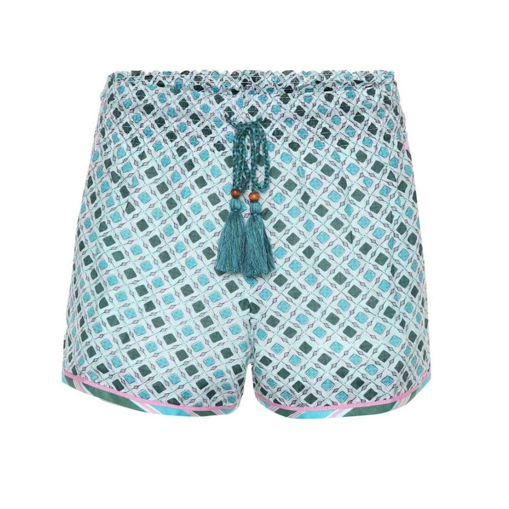 タリサ Talitha レディース ショートパンツ ボトムス・パンツ【Silk and cotton shorts】Blue/Pink