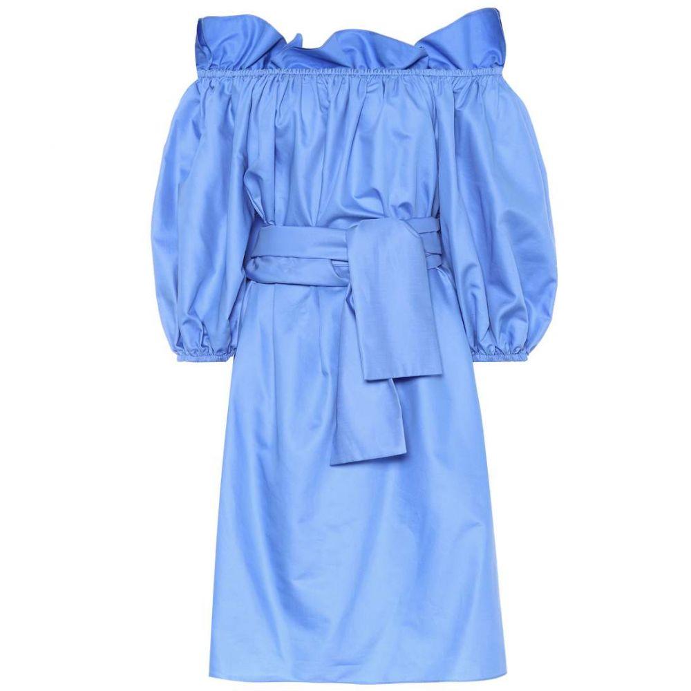 ステラ マッカートニー Stella McCartney レディース ワンピース ワンピース・ドレス【Reyna cotton poplin dress】Chambray Blue