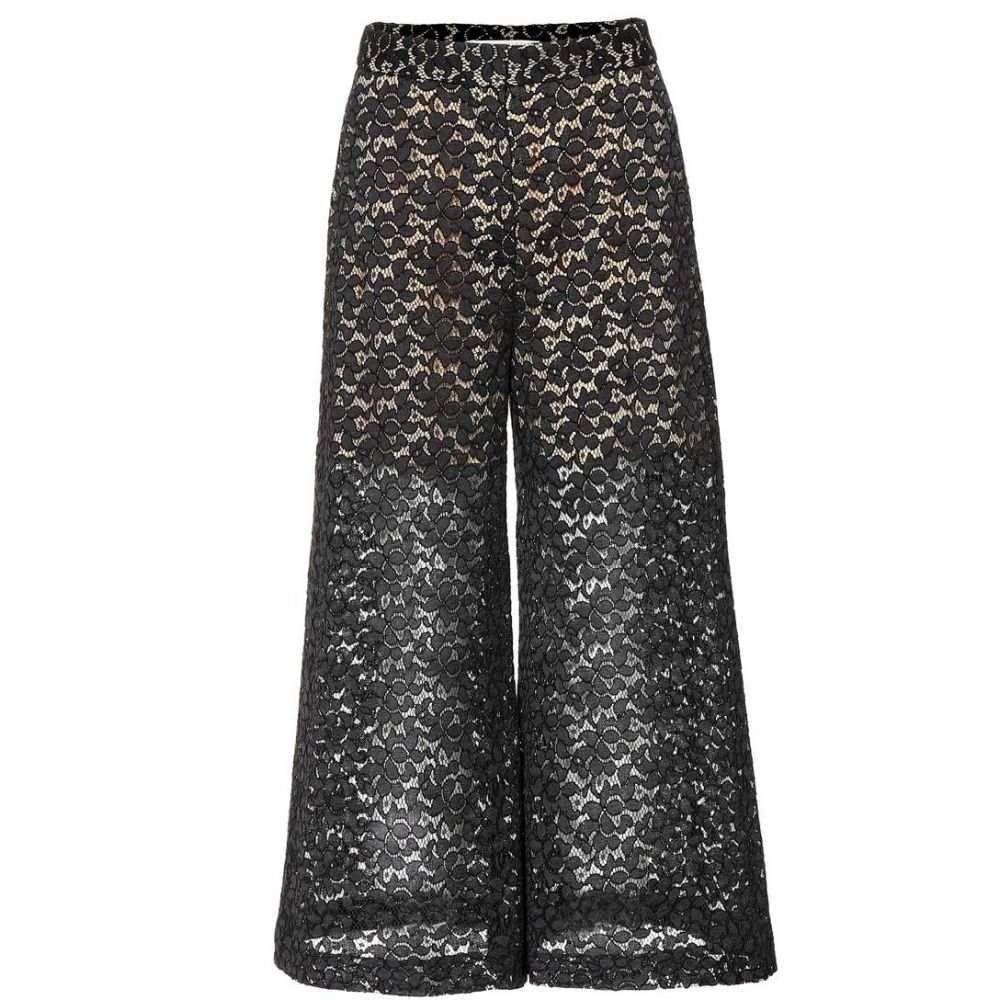 ステラ マッカートニー Stella McCartney レディース ボトムス・パンツ キュロット【Cotton-blend lace culottes】Black