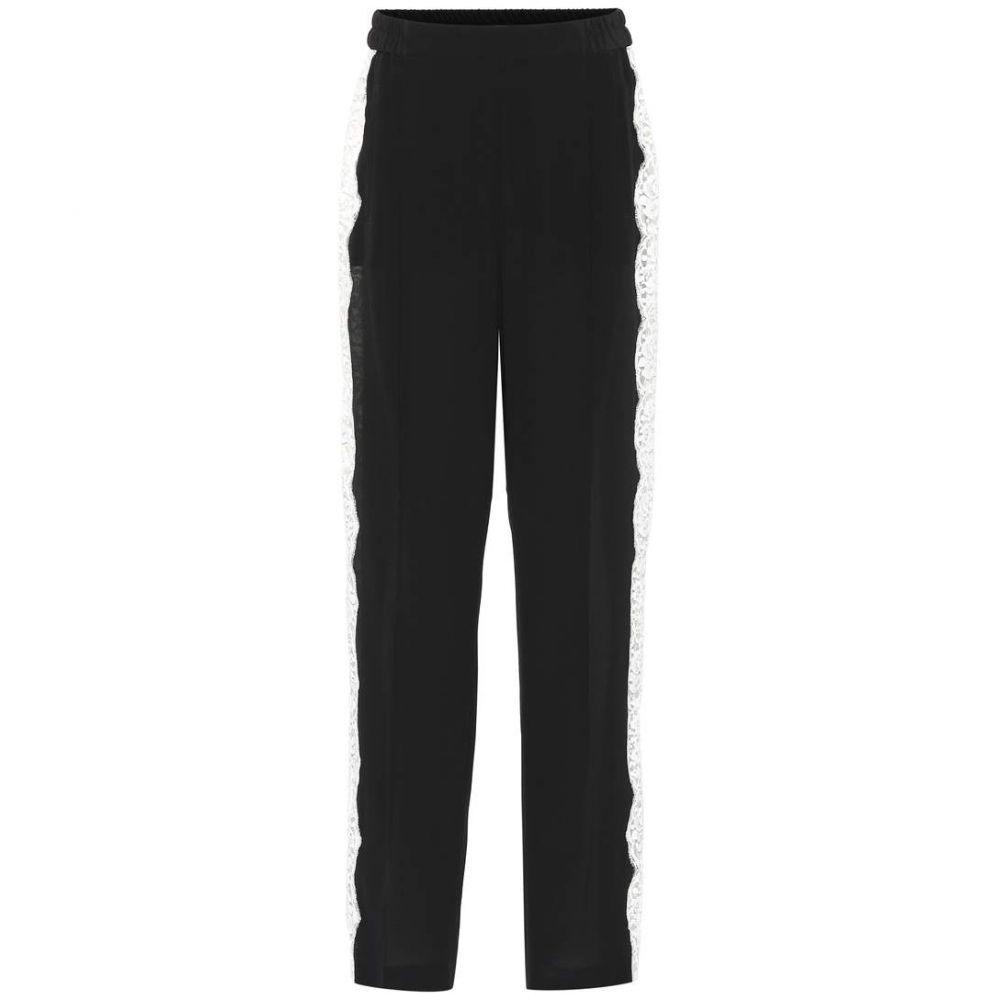 ステラ マッカートニー Stella McCartney レディース ボトムス・パンツ 【Lace-trimmed silk pants】Black