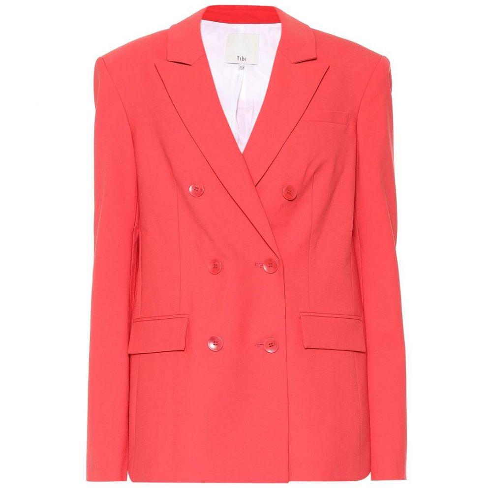 ティビ Tibi レディース スーツ・ジャケット アウター【Steward wool-blend blazer】Raspberry