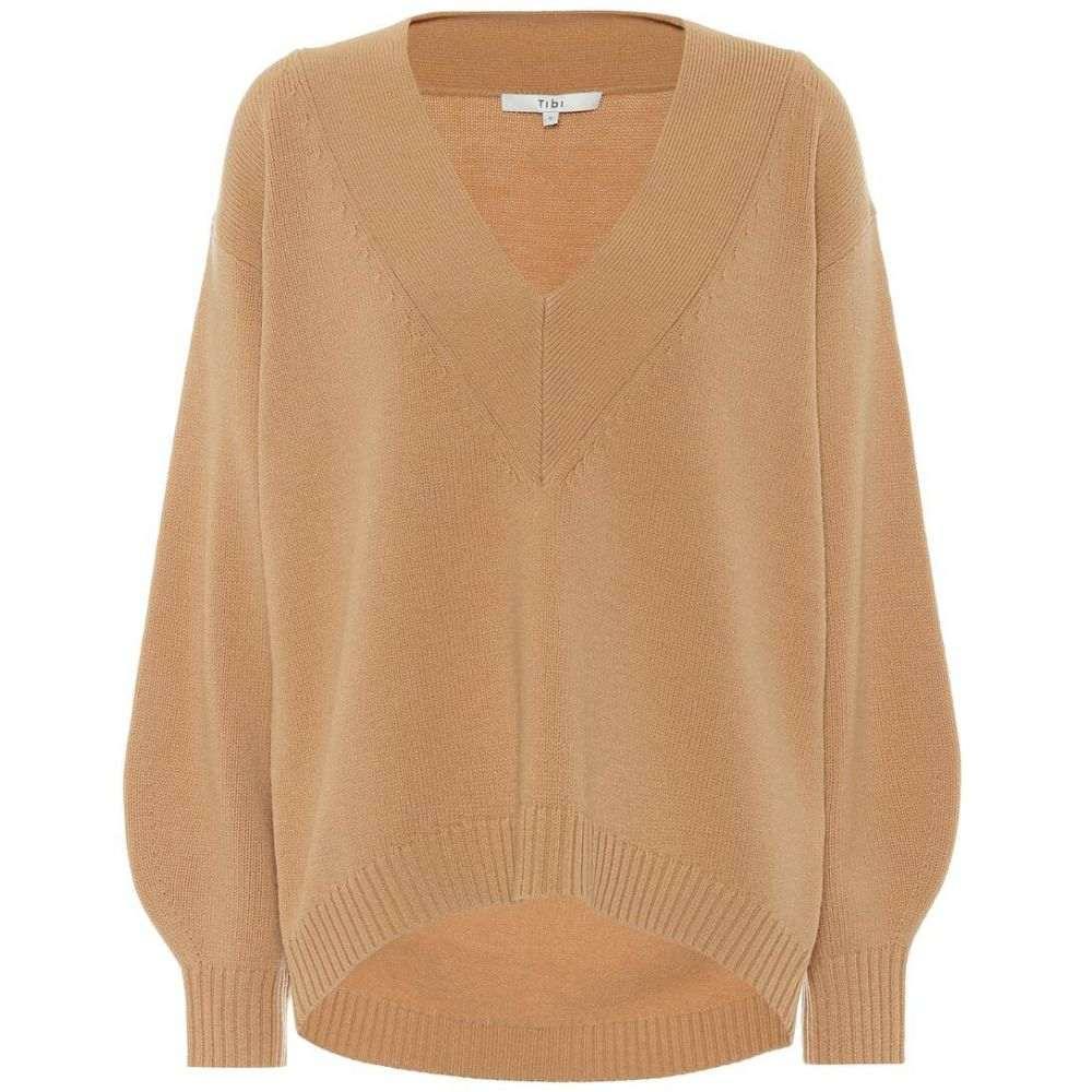 ティビ Tibi レディース ニット・セーター トップス【Wool-blend sweater】Light Burlywood