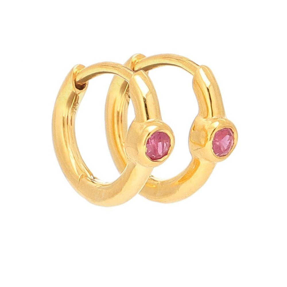 セオドラウェア THEODORA WARRE レディース イヤリング・ピアス ジュエリー・アクセサリー【Ruby Health gold-plated hoop earrings】