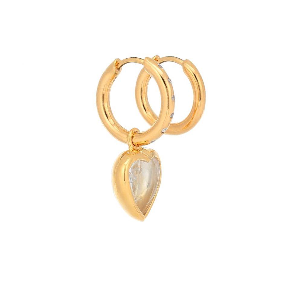 セオドラウェア THEODORA WARRE レディース イヤリング・ピアス ジュエリー・アクセサリー【Mismatched 18kt gold-plated hoop earrings with diamonds】
