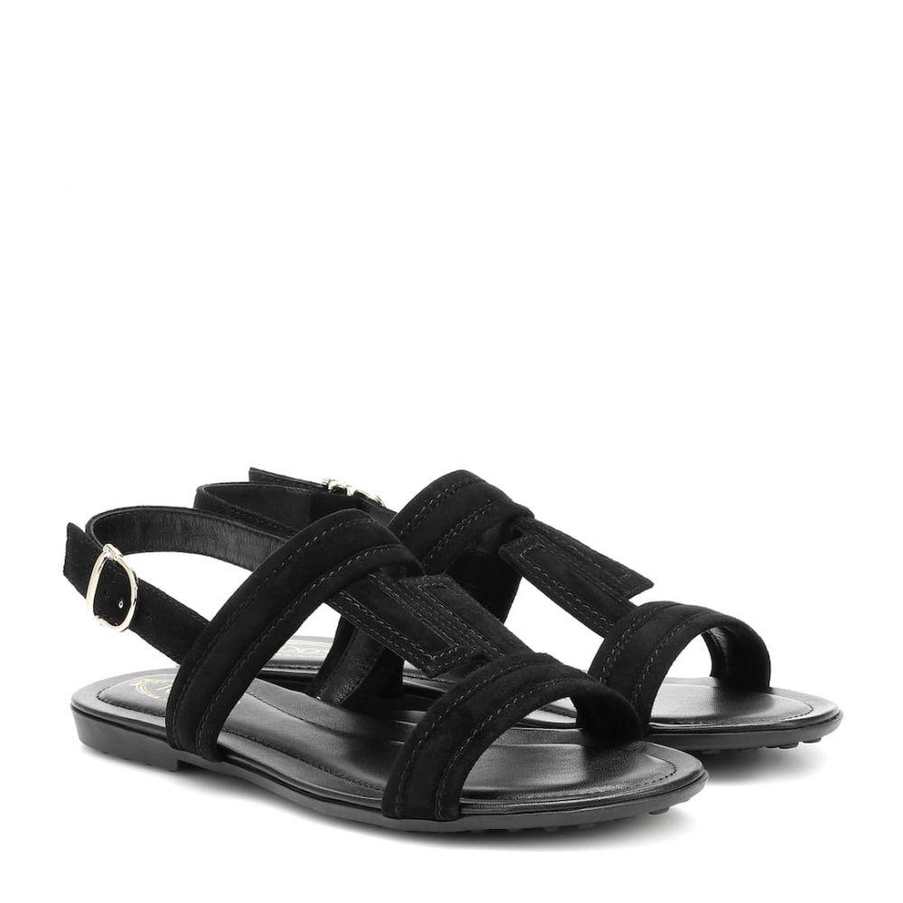 トッズ Tod's レディース サンダル・ミュール シューズ・靴【Suede sandals】Nero