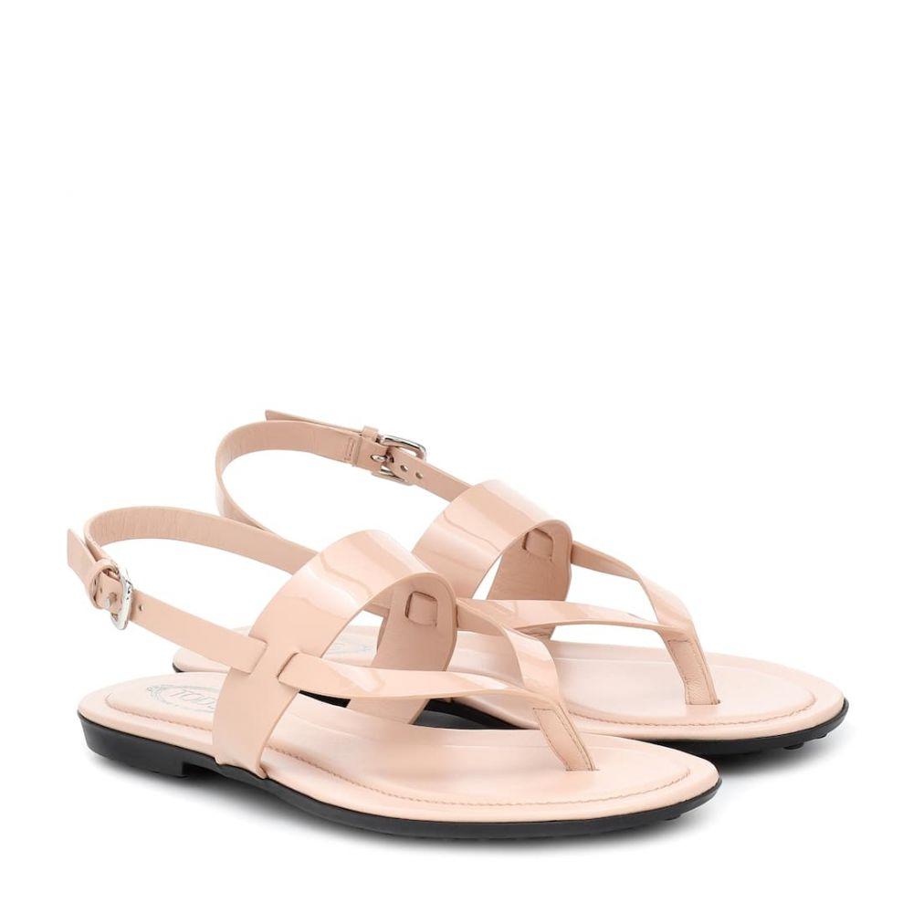 トッズ Tod's レディース サンダル・ミュール シューズ・靴【Patent eather sandals】Rosa Kiss