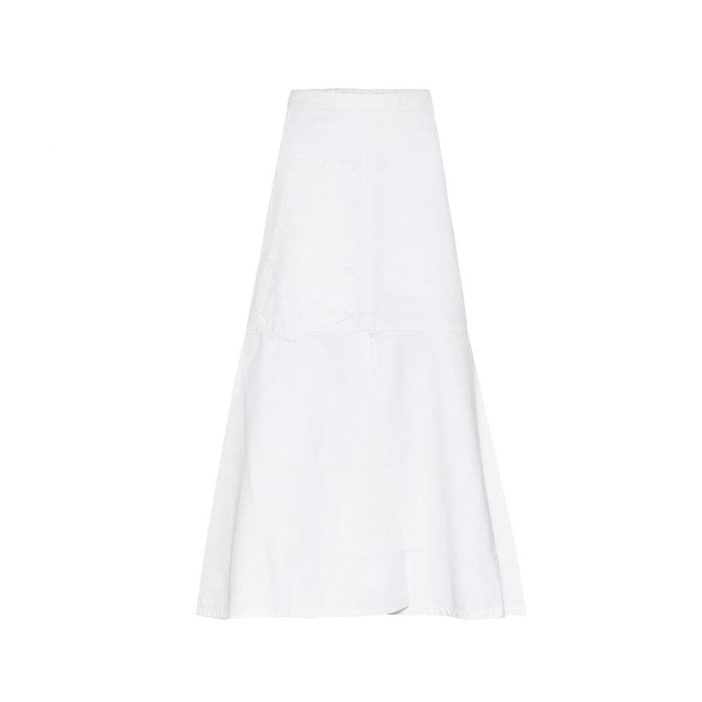 ティビ Tibi レディース ひざ丈スカート スカート【Cotton-twill midi skirt】White